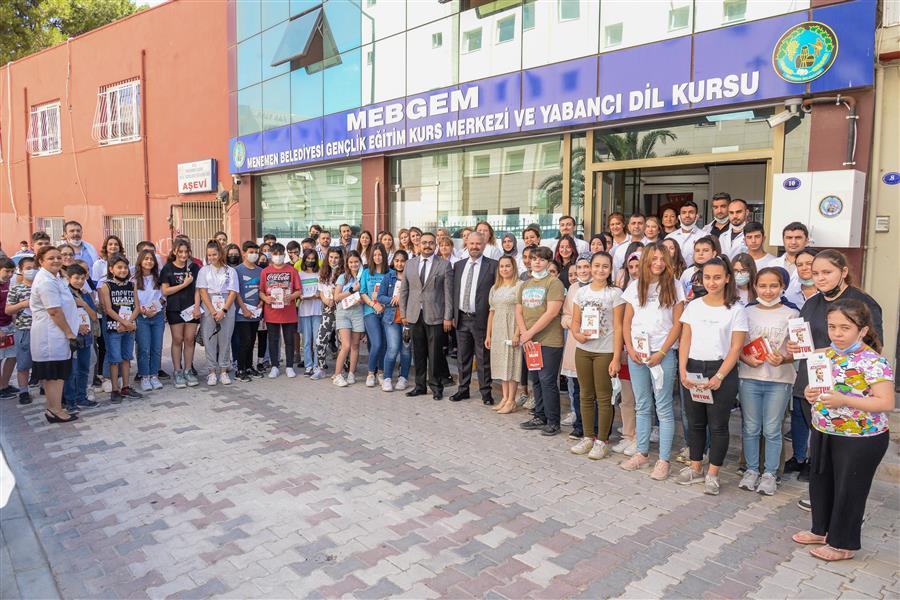 Başkan Amca'dan LGS öncesi MEBGEM'e moral ziyareti